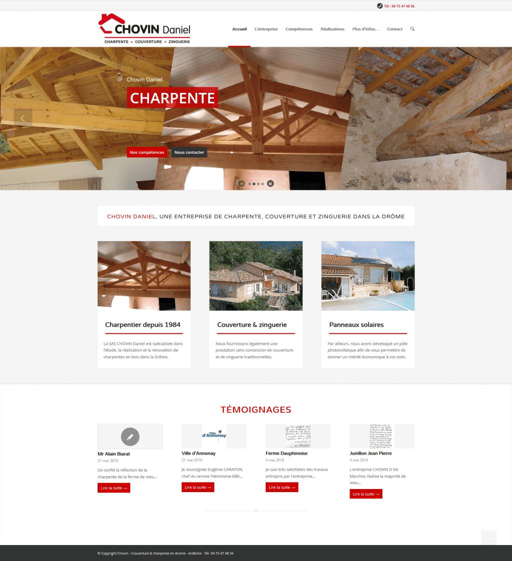 createur site internet entreprise de charpente dans la dr me ardeche. Black Bedroom Furniture Sets. Home Design Ideas